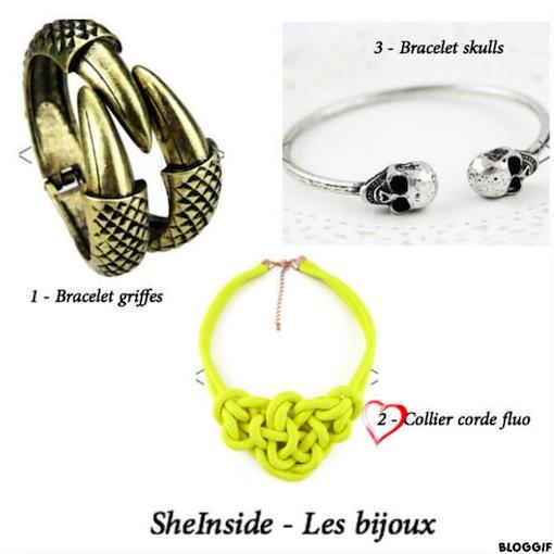 sheinside bijoux