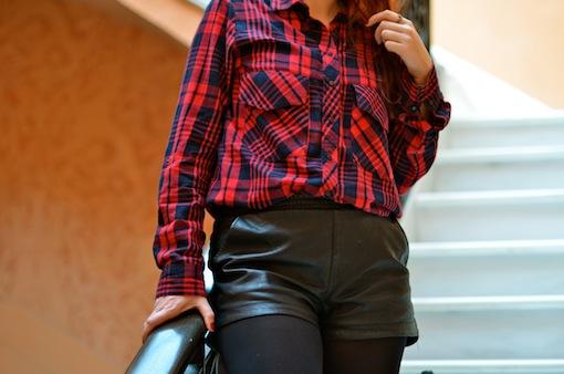 chemise sara short cuir