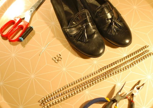 diy mocassins chaines 1