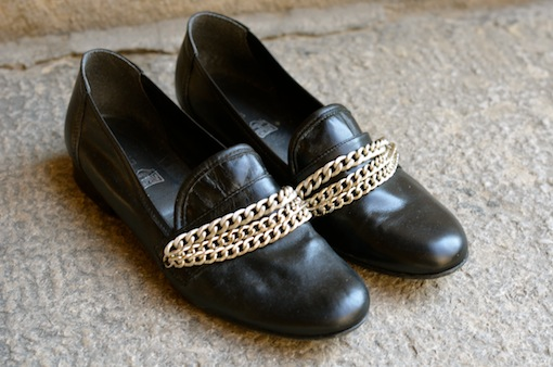 diy mocassins chaines blog