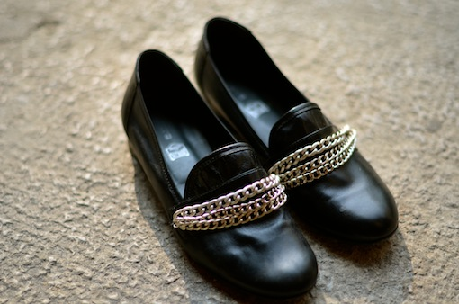 diy mocassins chaines