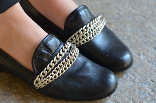 mocassins chaines