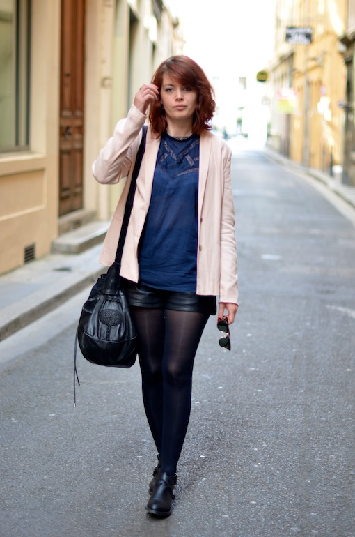 blog mode veste nude short cuir